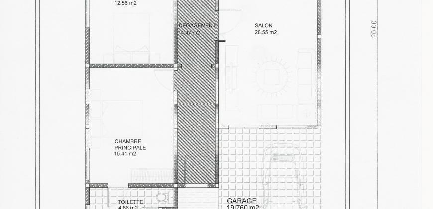 Maisons neuves de 3 chambres à vendre à Kati Sicoro en TF