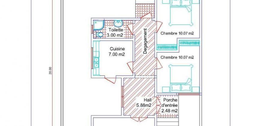 Maisons neuves de 2 chambres à vendre à Missalabougou en TF