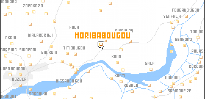 Terrain de 300m2 à Moribabougou en titre foncier