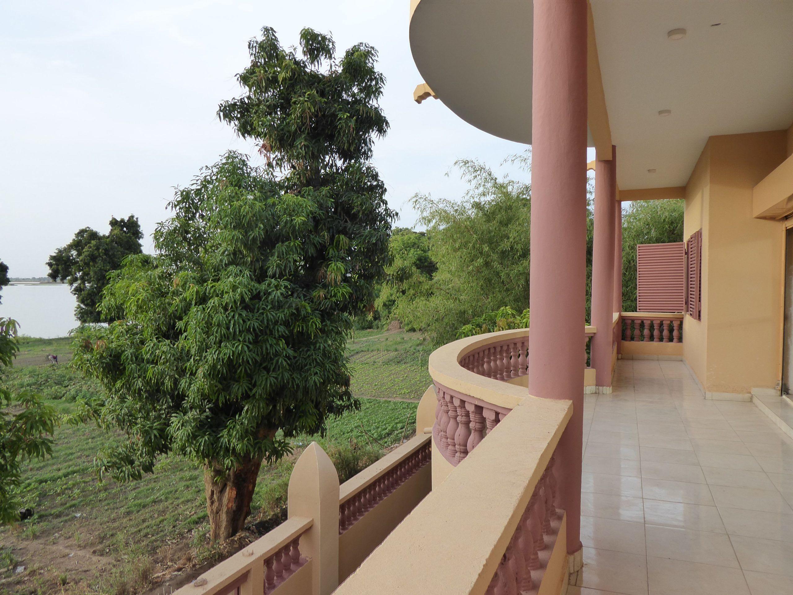 Maison d'hôte avec une vue superbe sur le fleuve Niger à Ségou